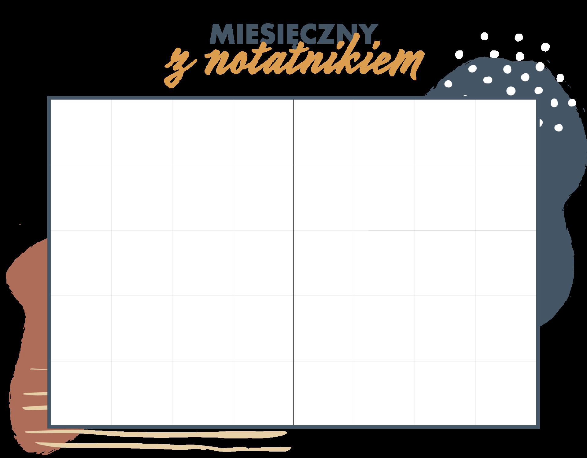 Miesięczny układ kalendarza