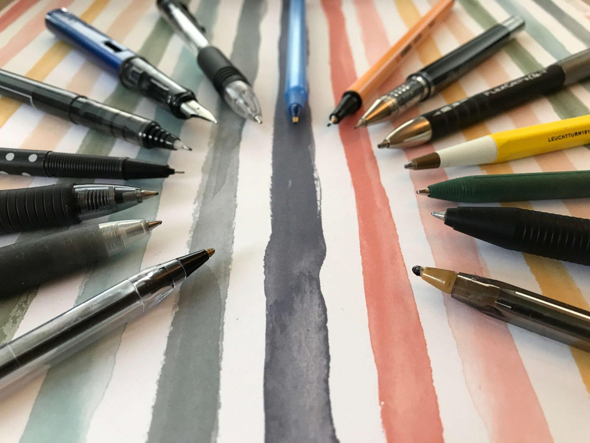 Długopisy (i pióra) mają bardzo różne końcówki!
