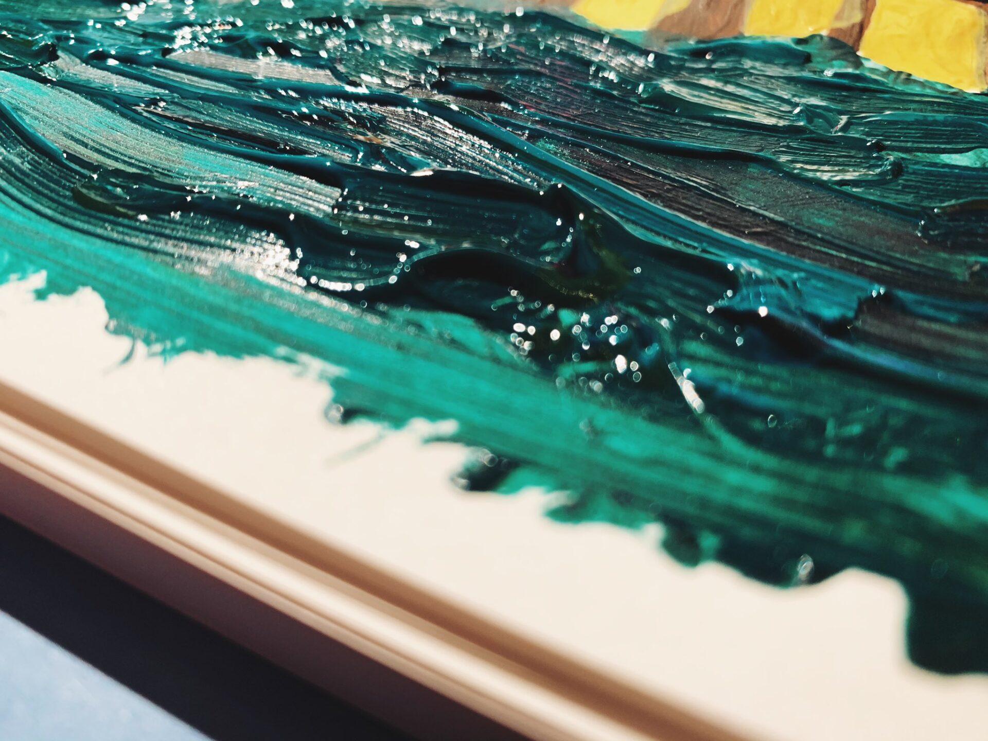 To tylko moje bazgroły, jednak podobnie wygląda faktura na obrazach van Gogha. (Szkicownik Leuchtturm)