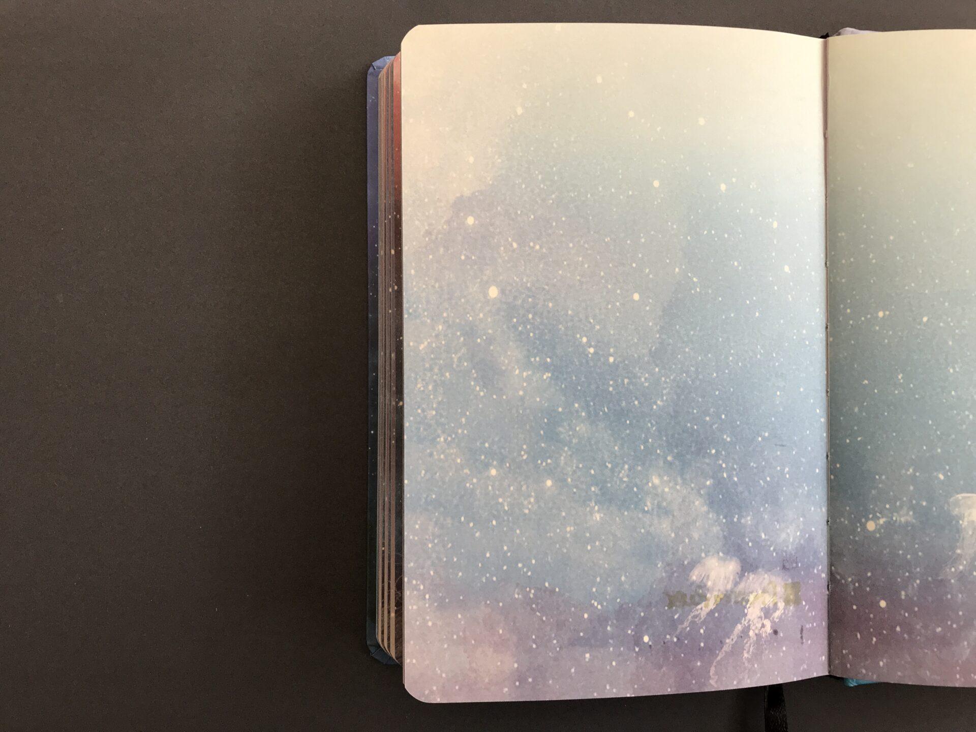 Test papieru w notatniku Jellyfish - druga strona